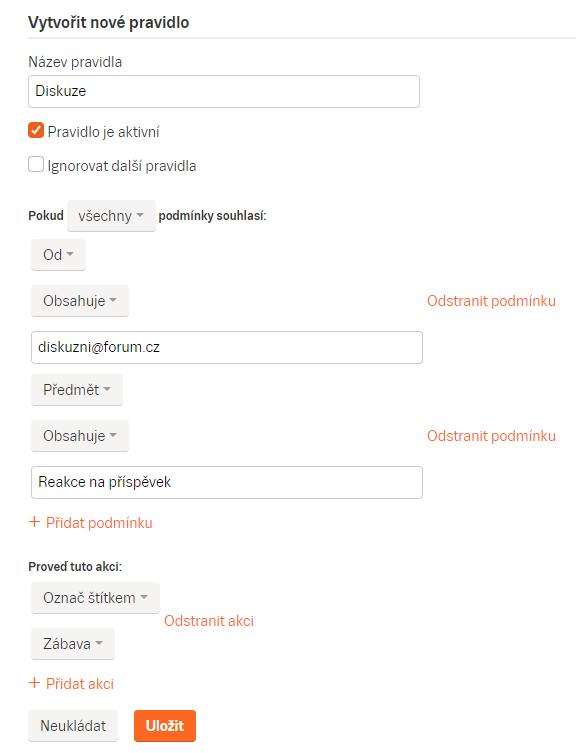 Příklady webů pro zasílání zpráv