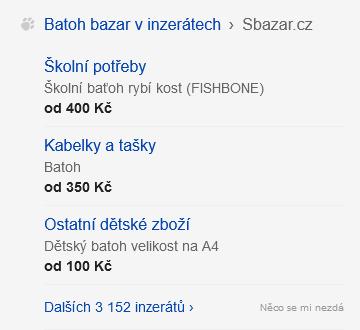 Sbazar - upoutávka