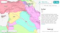 Eufrat v politické mapě - kliknutím otevřete odkaz v Atlasu