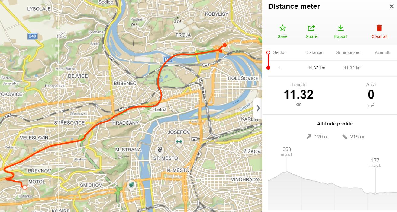 Import of the recorded route | Seznam Nápověda