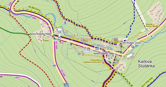 Cykloturistická mapa
