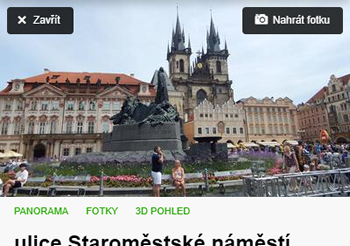 Tlačítko Panorama