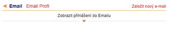 Přihlášení do Emailu na domovské stránce Seznam.cz