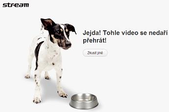 Chybová stránka Stream.cz