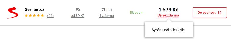 Extra message u nabídky v produktovém detailu na Zboží.cz